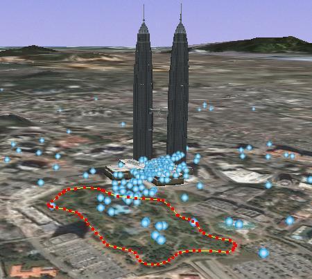 Kuala Lumpur KLCC Park Running Maps in the World