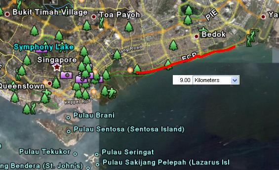 Singapore  East Coast Park  Running Maps in the World
