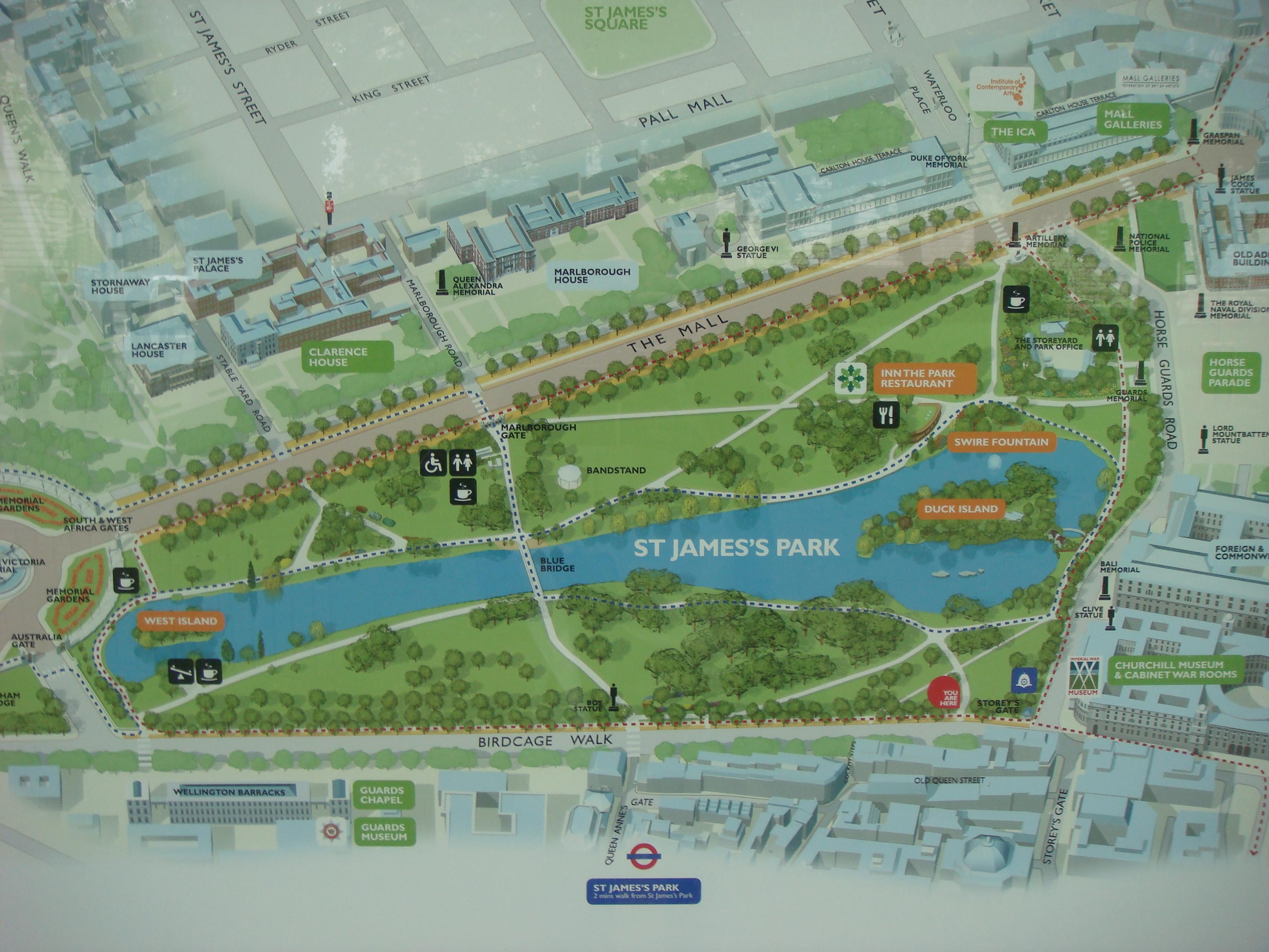 St James Park Map St James Park London Map ~ CINEMERGENTE St James Park Map